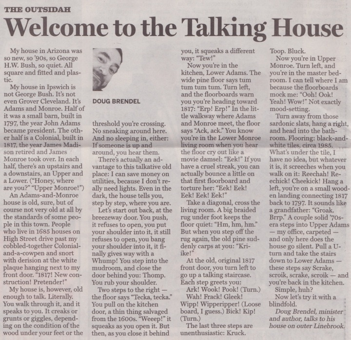 Welcome to the Talking House!