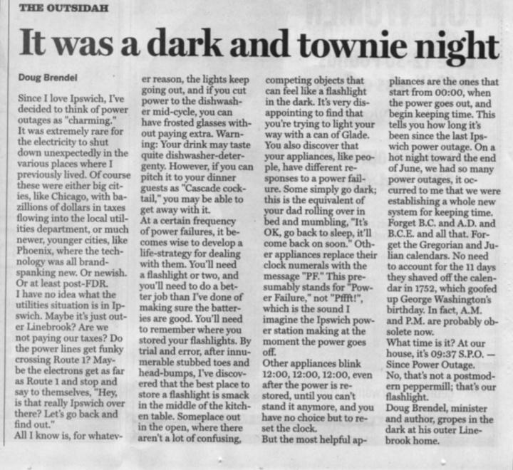 A Dark & Townie Night