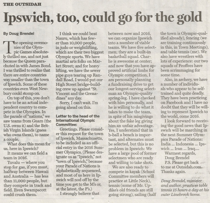 Ipswich at the Olympics! Yes!