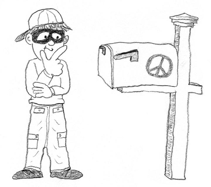 mailbox vandal prepped