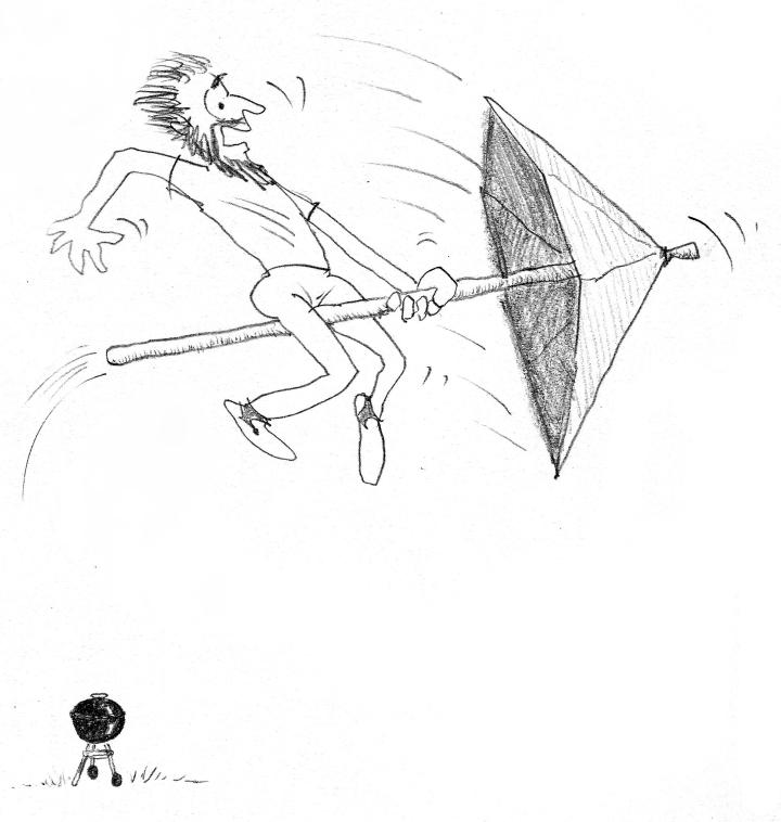 riding the umbrella prepped