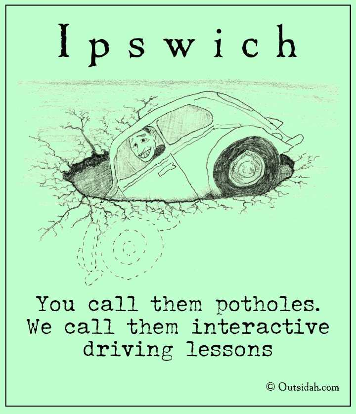 You call them potholes